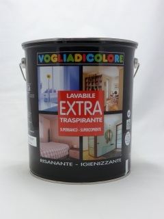 Lavabile extra   lt. 5  Bianco