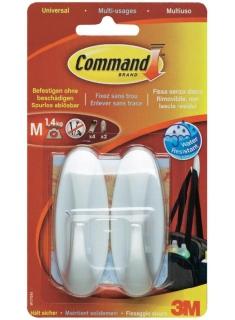 Ganci bianchi con adesivo misura M - Command (in esaurimento)